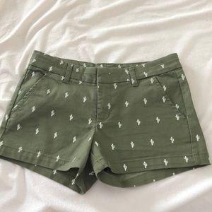 Green cactus shorts